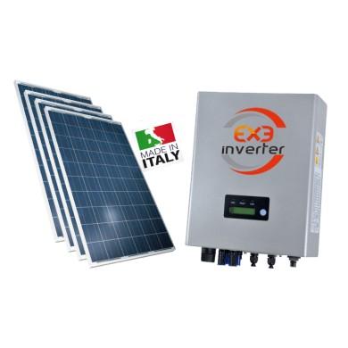 Exe Solar - KIT PANNELLI FOTOVOLTAICI 3 KW - PANNELLI EXE SOLAR E INVERTER EXE SOLAR