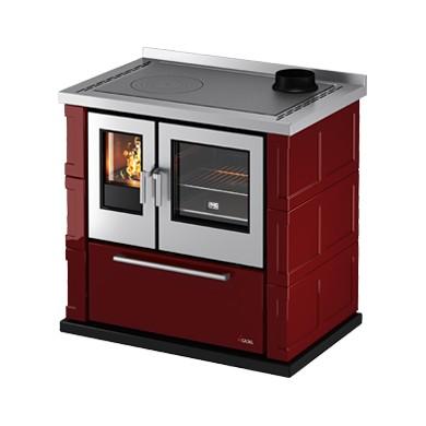 Cucina a legna Kook 87 Libera Installazione Ventilata Maiolica ...