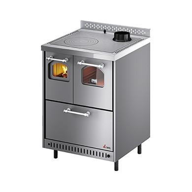 Cucina a legna jolly 6 4 kw ventilata cadel trentino - Stufe a metano ventilate ...