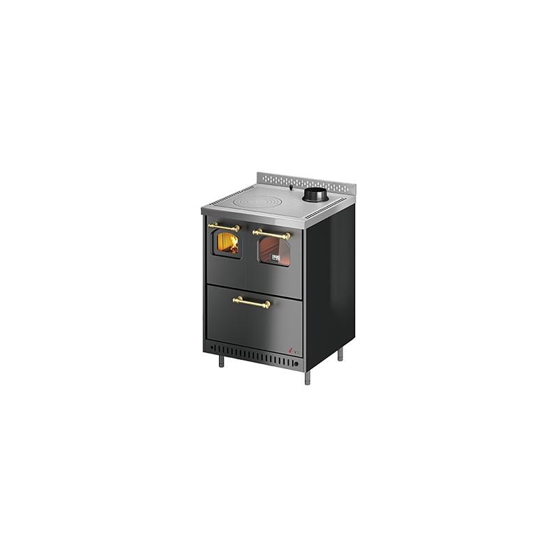 Cucina a legna Jolly 6,4 Kw Ventilata   Cadel - Trentino Energie Shop