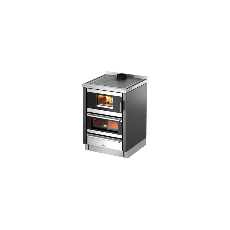Cucina a legna kook 60 6 7 kw ventilata cadel trentino - Stufe a metano ventilate ...